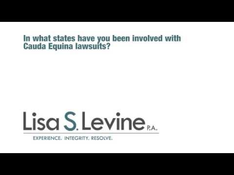 In what states have you been involved with Cauda Equina lawsuits?