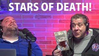 Joey Diaz and Lee Syatt eating Stars of Death.