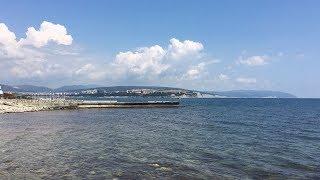 Геленджик. Погода 9 июня 2018 г. Пляж на Тонком мысу