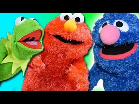 Elmo and Kermit The Frog Meet Grover From Sesame Street!
