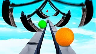 IMPOSSIBLE GOLF BALL vs. AXES! (Golf It)