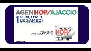 preview picture of video 'Aéroport d'Agen: la ligne AGEN - AJACCIO'
