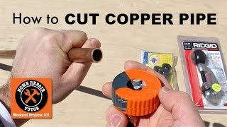 How to Cut Copper Pipe (5 Amazing Tools) -- by Home Repair Tutor