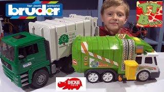 CARS TOYS BRUDER GARBAGE TRUCK | Брудер Мусоровоз Машинки Обзор Игрушек и Развлечения для детей