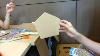 การประดิษฐ์โคมไฟจากกระดาษลัง ม.3.6