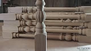Видео - Резная балясина для лестниц Granada