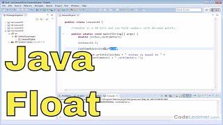 14 - Declaring and Using Floating-Point Variables in Java
