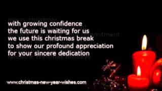 Business christmas greeting employees & workers