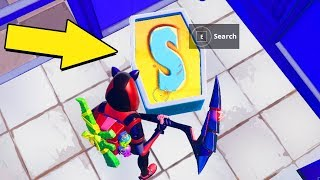 Search The Letter S In Wailing Woods  - SEASON 7 WEEK 4 CHALLENGES Guide - Fortnite