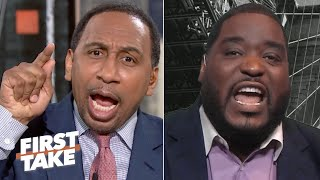 'You have two rings because of Tom Brady!' - Stephen A. gets heated with Damien Woody | First Take