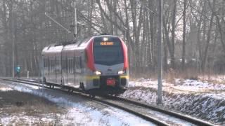 preview picture of video 'Stacja Łódź Arturówek - Pociąg do Zgierza (Kurs - LKA11545)'