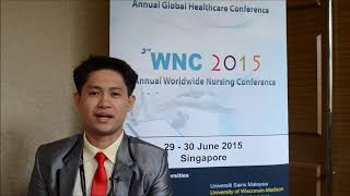 Prof. Beaven Andrew Atienza at WNC Conference 2015 by GSTF