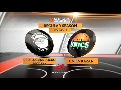 EuroLeague Highlights RS Round 18: Darussafaka Dogus Istanbul 71-64 Unics Kazan