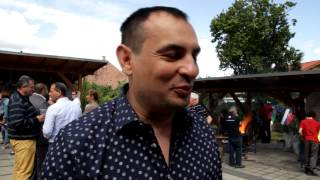 Peter Pollák na 12. Európskom Rómskom kováčskom sympóziu