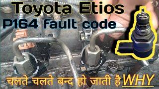 Toyota Etios 1272 fault code P1604 code Fuel pressure regulator problem