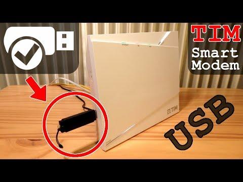 TIM Smart Modem • USB condivisione Hard Disk e Chiavette