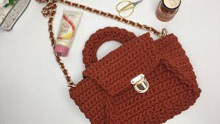 Crossbody Çanta Yapılışı (Crossbody Bag Construction)(Handmade Bag)