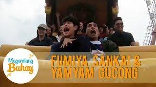 Yamyam and Fumiya's funny reaction during their Super Viking ride | Magandang Buhay