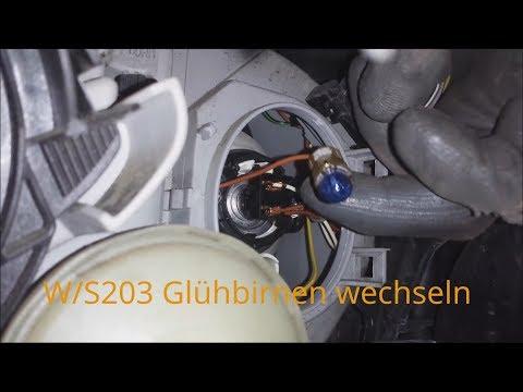 W203 Glühbirnenwechsel Standlicht, Blinker, Abblendlicht, Fernlicht, Nebelscheinwerfer