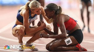 Beatrice Chepkoech (KEN) and Emma Coburn (USA) go 1-2 in Steeplechase; 2019 Worlds | NBC Sports