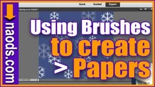 How To Create Your Own Digital Scrapbook Papers Using Brushing In Photoshop Elements