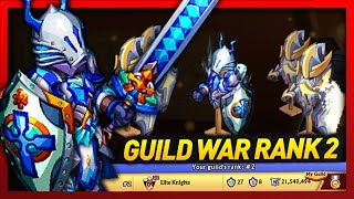 Knights and Dragons - RANK 2 AIR DROP Guild War Recap!! Power Leveling Rivercrest Knight+ A/W SF!!