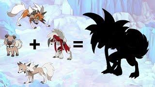 Rockruff  - (Pokémon) - Pokemon Fusion Requests #114: Rockruff + Lycanroc Midday + Lycanroc Midnight + Lycanroc Dusk