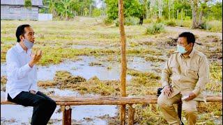 Presiden Jokowi Tinjau Lokasi Pengembangan Lumbung Pangan Nasional di Kapuas, 9 Juli 2020