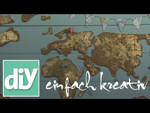 Pinnwand Weltkarte  | DIY einfach kreativ