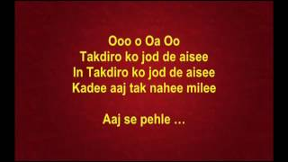 Aaj Se Pehele - Chitchor - Full Karaoke - YouTube