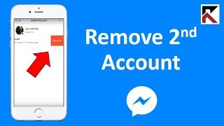 How To Remove Second Facebook Messenger Account iPhone