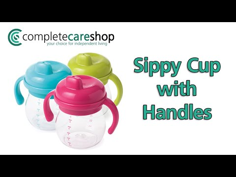 OXO Tot Sippy Cup with Handles Demonstration