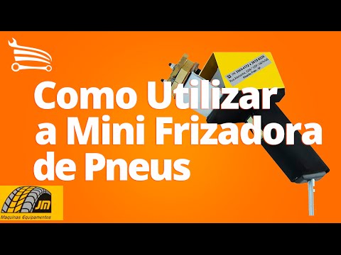 Mini Frizadora de Pneus  tipo Riscador - Video