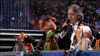 Andrea Bocelli - God Bless everyone and Jingle bells with the Muppets