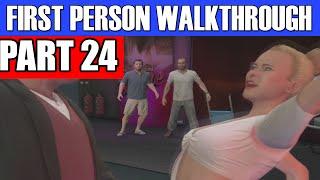 GTA 5 First Person Gameplay Walkthrough Part 24 - SUPER AKWARD! | GTA 5 First Person