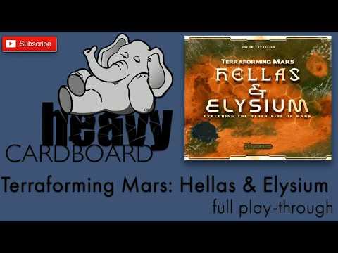Elysium - Terraforming Mars expansion full play-through by Heavy Cardboard!