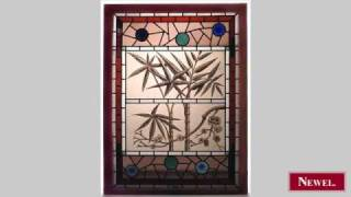 Antique English Victorian Stained And Leaded Glass Window