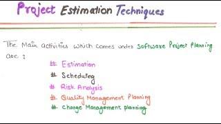 21- Project Estimation Technique In Software Engineering In HINDI | Project Estimation Technique
