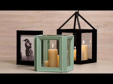 How to Make Decorative Lanterns Using Picture Frames
