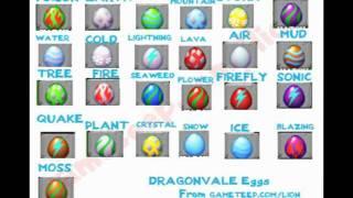 Dragonvale - all the dragon eggs