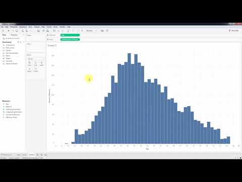 039 Creating Bins and Distributions For Age   Tableau 10.5   BI   Data  Analytics