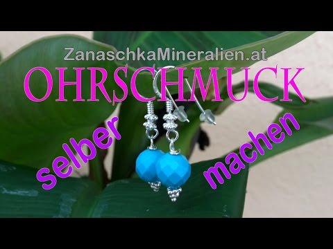 Ohrschmuck selber machen DIY - Ohrhänger anfertigen - Ohrhaken basteln
