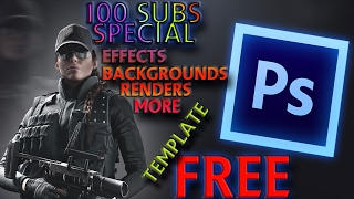 100 Subs Photoshop effects Template free 2017!!