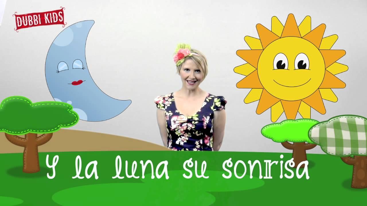 SOL Y LUNA Cantas conmigo. Singalong in Spanish. Música infantil