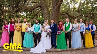 Couple Ties Knot In Magical Disney-themed Wedding | GMA