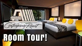 Disneys Contemporary Resort | Room Tour 2019