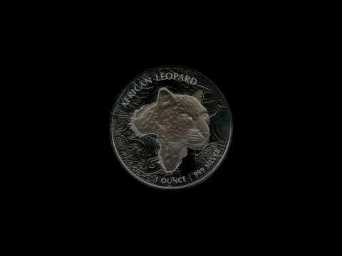 Video - 1 oz Silbermünze Afrika Ghana Leopard - 2019