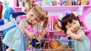 Ani y Ona Nenuco montan un supermercado y estrenan carritos de la compra