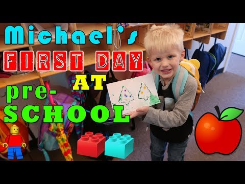 Michael's First Day of Preschool