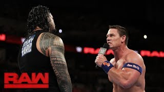 Download Video Roman Reigns challenges John Cena to a fight, live on Raw: Raw, Sept. 4, 2017 MP3 3GP MP4